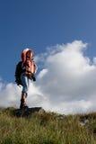 девушка backpacker Стоковое Фото