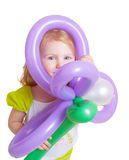 девушка ballon Стоковые Изображения RF
