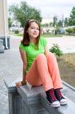 девушка banister красивейшая стоковое изображение