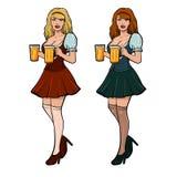 Девушка beer7 Стоковое фото RF
