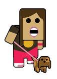 девушка blockhead Стоковые Изображения RF