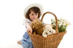 девушка bonnet немногая Стоковое Изображение