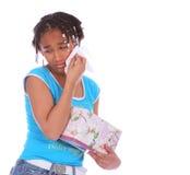девушка c афроамериканца плача Стоковые Изображения