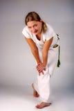 девушка capoeira Стоковая Фотография
