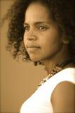 Девушка Caribbean Sepia Стоковые Изображения