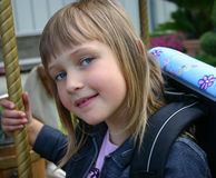 девушка carousel Стоковая Фотография RF
