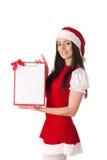 девушка clipboard рождества Стоковое фото RF