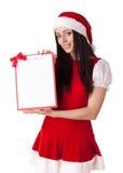 девушка clipboard рождества Стоковое Изображение RF