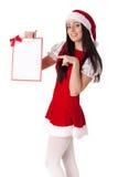 девушка clipboard рождества Стоковое Фото