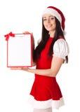 девушка clipboard рождества Стоковые Фотографии RF