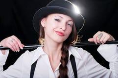 девушка clockwork Стоковые Изображения RF
