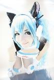 Девушка Cosplay, manga японца шаржа костюма Стоковые Фотографии RF