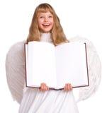девушка costume книги знамени ангела Стоковые Изображения