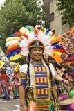 девушка costume масленицы цветастая стоковые фотографии rf