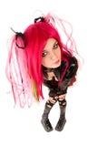 девушка cyber готская стоковое изображение rf