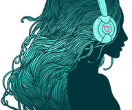 Девушка DJ бесплатная иллюстрация