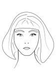 Девушка drawing1 Стоковые Изображения RF