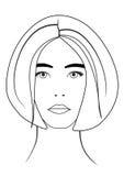 Девушка drawing2 иллюстрация вектора