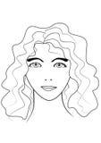Девушка drawing3 иллюстрация вектора