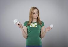 Девушка Eco стоковая фотография