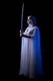 Девушка Elven с шпагой Стоковые Изображения