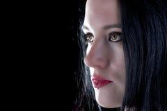 девушка eyed коричневым цветом готская Стоковое Изображение