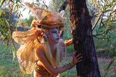 девушка fairy пущи стоковое изображение