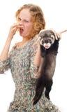 девушка ferret Стоковые Фото