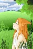 Девушка Fox Стоковое Изображение