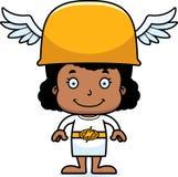 Девушка Hermes шаржа усмехаясь иллюстрация вектора