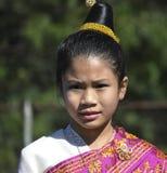 Девушка Hmong в костюме Стоковое Изображение