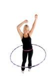 девушка hooping Стоковое Изображение RF