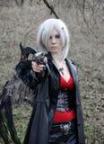 Девушка Manga, игра costume Стоковое Изображение