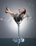 девушка martini Стоковые Изображения