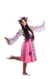 девушка oriental гирлянды танцульки costume красотки Стоковая Фотография