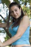 девушка outdoors довольно Стоковые Фото