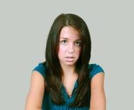 девушка pouting довольно предназначенное для подростков Стоковое Изображение