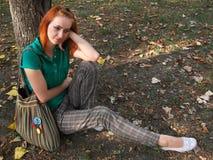 девушка redheaded Стоковые Изображения