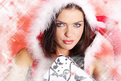 девушка santa сексуальный Стоковые Изображения RF