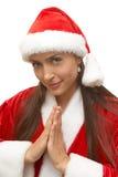 девушка santa Стоковая Фотография