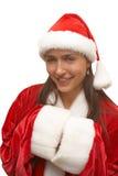 девушка santa Стоковые Изображения RF