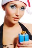 девушка santa стоковое изображение
