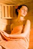 Девушка Sauna Стоковая Фотография RF