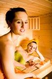 Девушка Sauna Стоковые Изображения RF