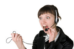 девушка screaming Стоковые Фото