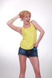 девушка screaming Стоковое Фото