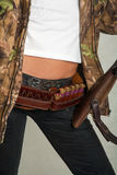 Девушка Seashore с оружием 5 стоковое изображение rf