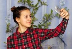 Девушка Selfie стоковое изображение rf