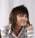 девушка smirking Стоковое Изображение
