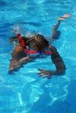 девушка snorkeling Стоковое Изображение RF